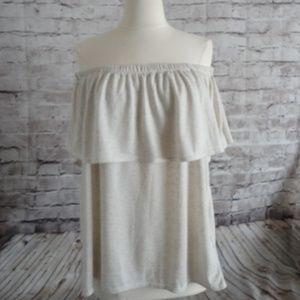 Rose & Olive Size XL Peasant BoHo Open Shoulder